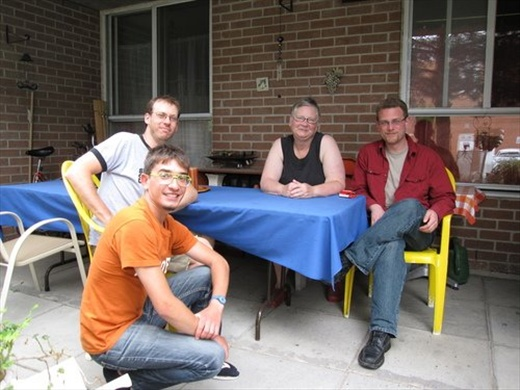 Adam, me, Liz and his son. (from the left). Unforgettable hospitality! Toronto, ON
