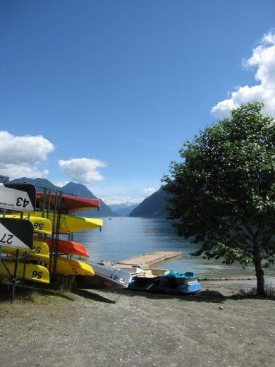 Bike trip from Maple Ridge up to Alouette Lake
