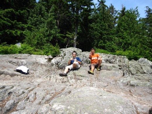 Jason and me, Lynn Peak, North Vancouver.