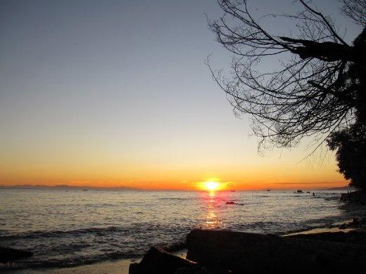 Sunset on Wreck Beach!