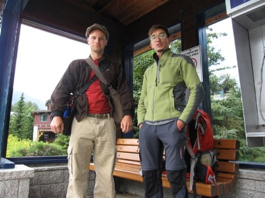 Steve and me in Whistler, waiting for the bus to Whistler Creek.