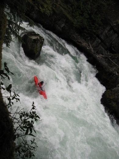 Kayakers along the creek