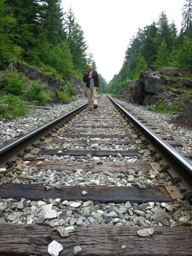 Along the rail path..