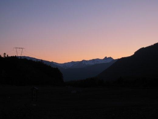 Sunset from the amazing HI hostel, Whistler, BC