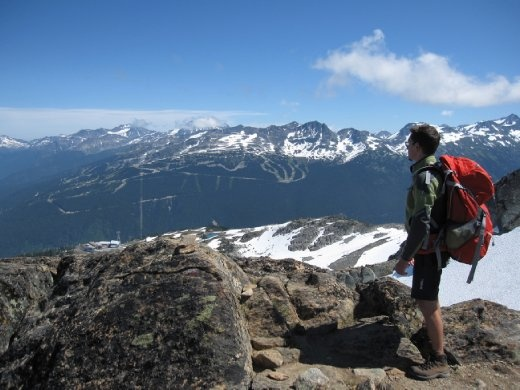 Whistler Mountain. Blackcomb in the background.