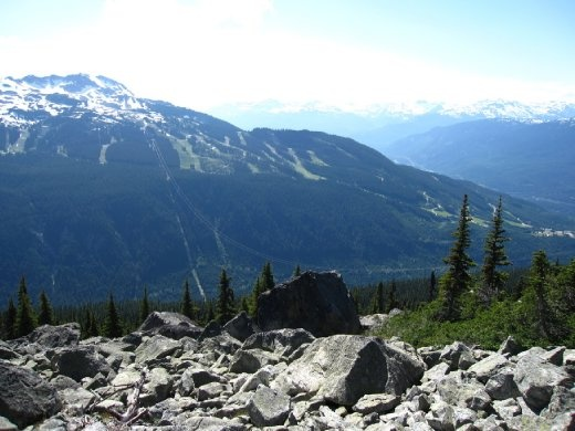 The Peak to Peak from Blackcomb Mountain.