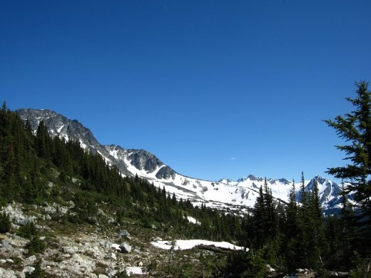 Hiking around Blackcomb Mountain.