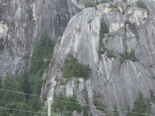 Rock Climbers on the Chief.