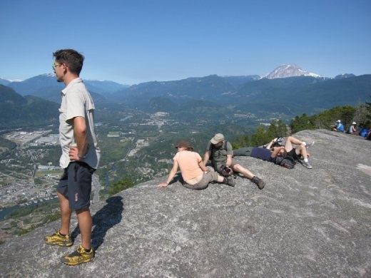 North Squamish on the background from the second peak of the CHief.