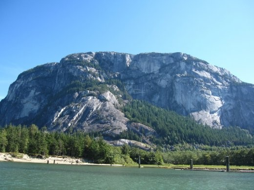 Coming back home.. SAILING! Stawamus Chief from the bay..