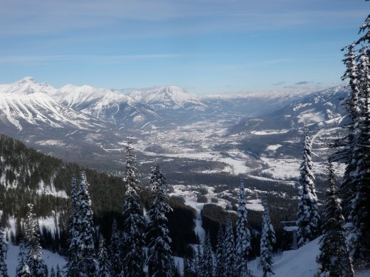 Fernie town from up the hill