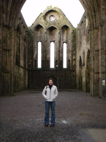 Em in the main part of the cathedral on the Rock of Cashel