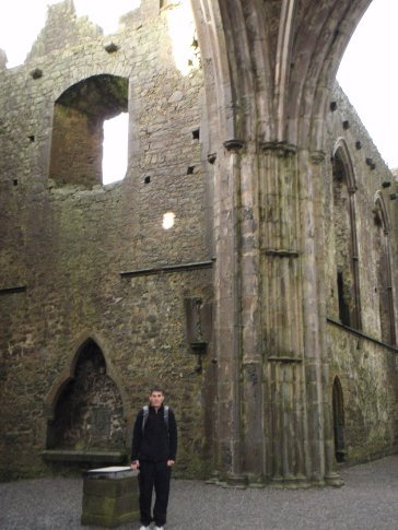 Maneesh inside the Cathedral on the Rock of Cashel