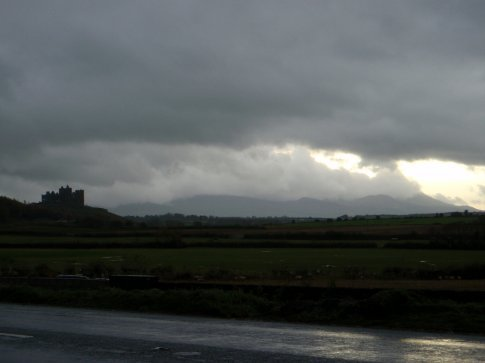 Our first view of the Rock of Cashel. Fairytale like.