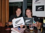 Caf and Em at Clohessey's pub in Limerick for the All Blacks vs Munster game: by milko_rosie, Views[227]