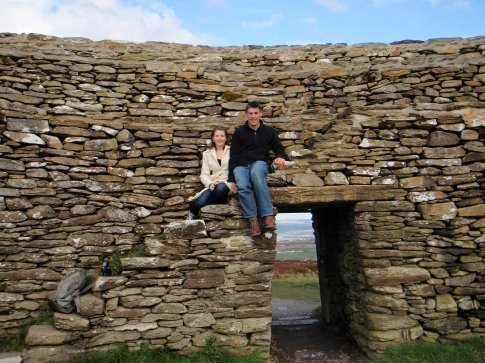 Em and Maneesh at the Grianan of Aileach, Co. Donegal.