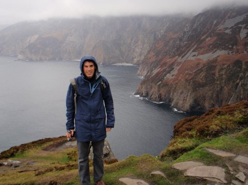 Maneesh at the Slieve League Cliffs, Co. Donegal. Photos do not do them justice.