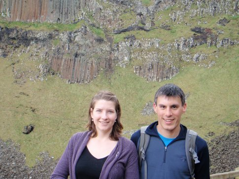 Emma and Maneesh at the Giant's causeway, Co. Antrim.
