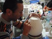 A pot being hand painted at a family ceramics studio in Selcuk.: by milko_rosie, Views[223]