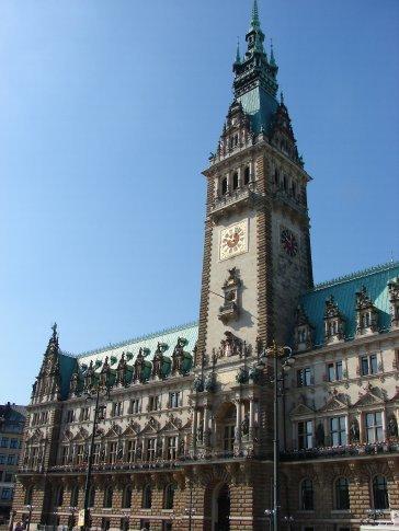 Hamburg city hall... well most of it anyway