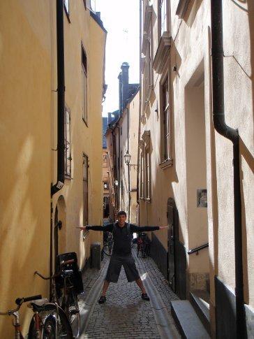 An alleyway in Gamla Stan (old town), Stockholm.