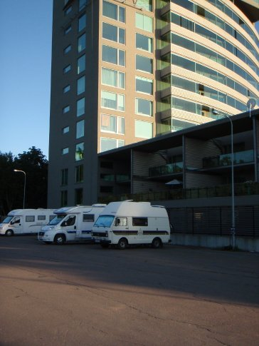 Tallinn city camping, our first innner city carpark camping experience which is called a campground.
