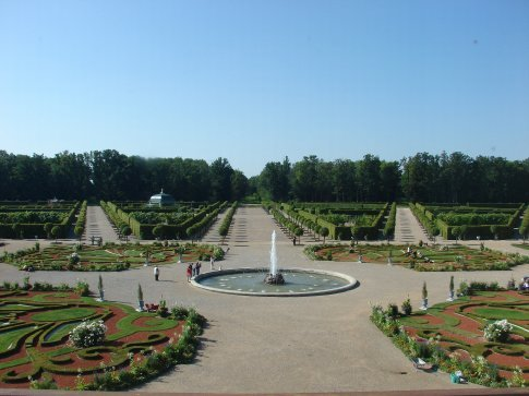 The French formal gardens at Rundale Palace.