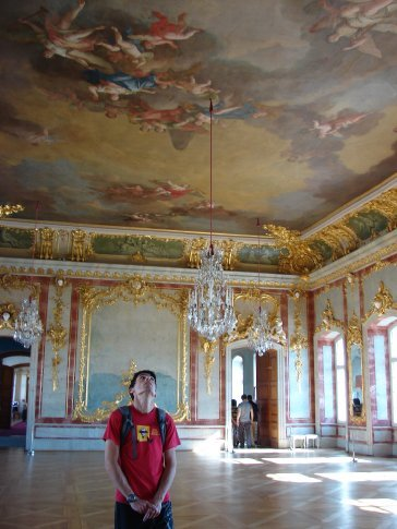 One of the rooms inside Rundale Palace.