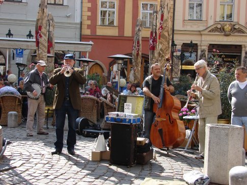 One of the many busking groups we saw in Prague.
