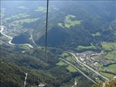 The view over Werfen from the cable car on the way up to the ice cave.: by milko_rosie, Views[716]
