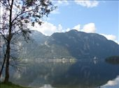 Hallstatt across the other side of the lake, surrounded by mountains. This is where we went for our swim.: by milko_rosie, Views[156]