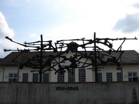 A memorial at Dacchau concentration camp.