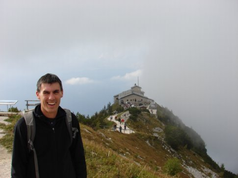 Maneesh at the Eagles Nest at Obersalzberg.