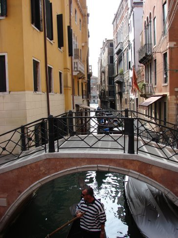 One of the canals in Venice.