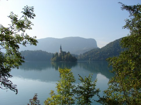 Bled - The church in the middle of the lake.