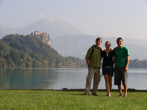 Half way around Lake Bled.