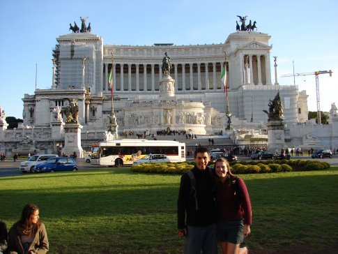 Us outside the Roman Mint.