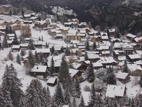 Gimmelwald village.