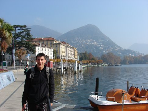 Maneesh in Lugano in the south of Switzerland.