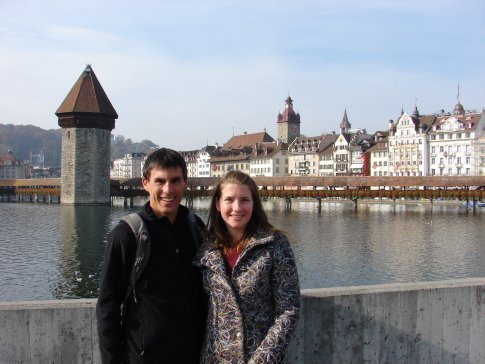 Us in Luzern. It was a very pretty city.