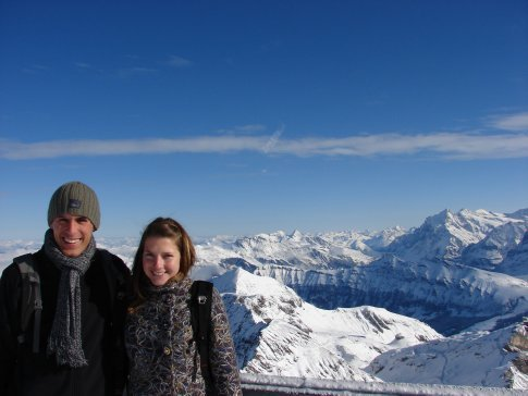 Us at the top of the Schilthorn Cablecar. Just amazing.