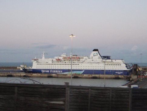 The 'Oscar Wilde' vessel that carried us safely through the 7m seas back to Rosslare, Ireland.