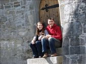 Us in a doorway of an old cathedral at Ardfort, Co. Kerry.: by milko_rosie, Views[191]