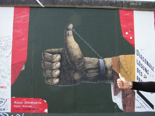 The East Side Gallery, the Berlin Wall. It got the thumbs up.