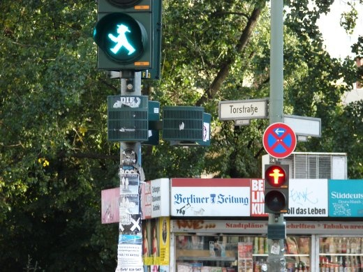 The 'crossing man' of Berlin. The only ones like it in Europe. They look very friendly.