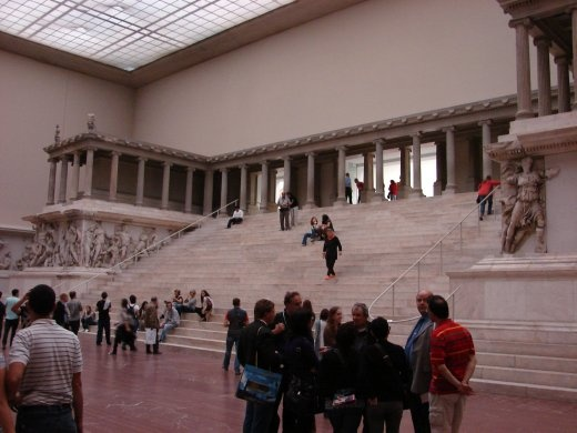 Inside the Pergammon Museum on Museum Island. This is the steps and altar, all the way from Pergammon, Turkey.