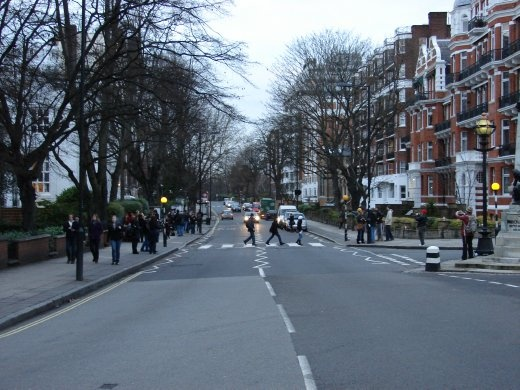 The famous 'Abbey Road' crossing.