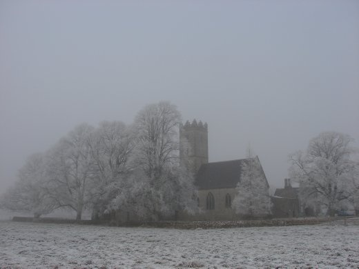 One of the old Abbeys at Adare on Christmas Eve morning.