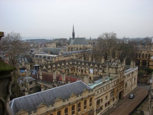 Looking out over Oxford. What a spectacular place, such great buildings.