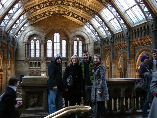 Us with James and Julie inside the Natural History Museum.
